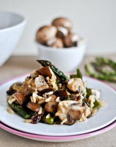 Jasmine Rice, Asparagus & Mushroom Salad