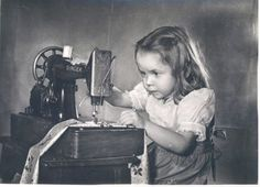 This reminds me of me (trying to) learning to sew on my grandmother's old singer sewing machine.  I was always scared the needle was going to come down on my finger!