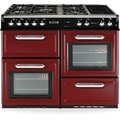 Red range cooker from Leisure John Lewis, Ranger, Four A Convection, Dual Fuel Range Cookers, Basin Vanity Unit, Domestic Appliances, Electric Oven, Modern Bathroom Decor, Washing Dishes