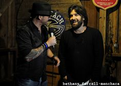 The one and only Bob Schneider & I backstage at Luckenbach