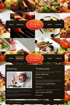 Template 46303 - Delicacy Chef Moto CMS HTML Template