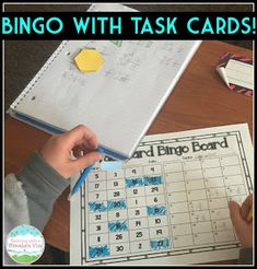 Play BINGO With any set of task cards!  Download the free templates here.
