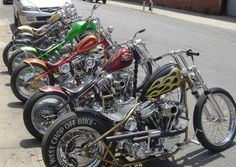A flock of flake Bikes! #choppers #harley #motorcycles