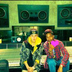 #JustinBieber and #KidCudi hit the studio together