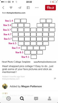 The Taylor Diaries: Heart Photo Collage Template. Decoration Photo, Photo Collage Template, Photo Displays, Display Photos, Display Ideas, Display Wall, Girls Bedroom, Teen Girl Rooms, Bedroom Art