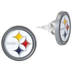 9cba23bbce3 Studded NFL Earrings - Pittsburgh Steelers Steelers Gear
