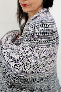 Snowmelt Shawl MKAL pattern by Helen Stewart