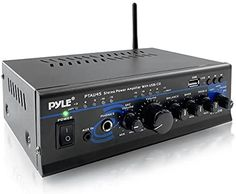 Amazon.com: Portable Home Audio Power Amplifier - 2X120 Watt, 2 Channel Surround Sound Stereo Receiver w/ USB IN - For Amplified Subwoofer Speaker, CD DVD, MP3, iPhone, Phone, Theater, PA System - Pyle PTAU45: Home Audio & Theater Discount Electronics, Subwoofer Speaker, Portable House, Iphone Phone, Surround Sound, Theater, Channel, Audio, Usb