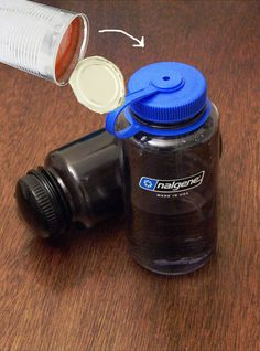 Deodorize water bottles and travel mugs with tomato juice.
