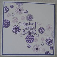 Circle of purple by Scrapcrazy Brdlady - Cards and Paper Crafts at Splitcoaststampers