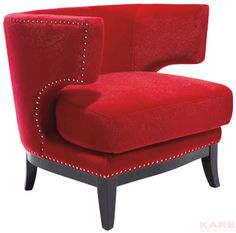 Sessel Art Deco Red