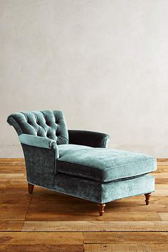 Slub Velvet Gwinnette Chaise Lounge - anthropologie.com
