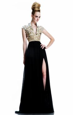Discount 2015 V-Neck Formal Evening Dresses Sequins And Beads Celebrity Dresses Split Side Sweep Train Party Prom Gowns BL18 Online with $178.02/Piece | DHgate