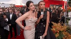 Sarah Silverman joked with E!'s Giuliana Rancic about her boyfriend smuggling weed in his rectum to the 2016 Screen Actors Guild Awards.