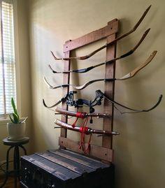 Archery bow display rack