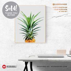'Pineapple V2' Poster  Sold! #redbubble #buyart #decor