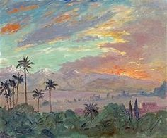 Sunset Over the Atlas Mountains 1935 in Marrakech By Winston Churchill Impressionist Landscape, Landscape Paintings, Oil Paintings, Landscape Art, Impressionism, Marrakech, Churchill Paintings, Winston Churchill, Art Pictures