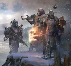 Guardians, wearing Rise Of Iron regalia.