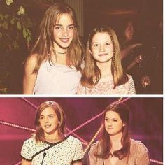 Emma Watson and Bonnie Wright  Hermione and Ginny