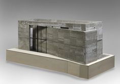 Tadao Ando (1941 - ), Church of the Light, Osaka, architectural model, modelo, maquette