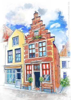 Домики Европы (Рисунки и иллюстрации) - фри-лансер Anna IDea [ania_art].