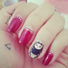 #nails #nailart #nailporn #gelnail #naturalnails #Rilakkuma #Rilakkumanails #Vegas #VegasNails #Jxlyn_Nails