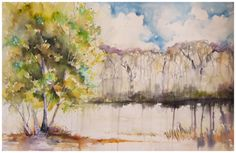 Tree Lines | watercolour by Angela Fehr