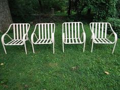 Vintage Brown Jordan Mid Century Modern Patio Lounge Dining Chairs Eames #BrownJordan