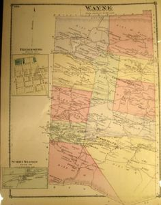 Wayne Townsip, Schuylkill County landowner map 1875