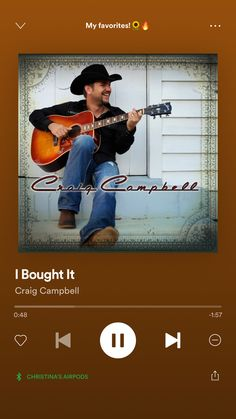 Craig Campbell, Country Playlist, Country Music Lyrics, My Favorite Things, Movie Posters, Country Lyrics, Film Poster, Billboard, Film Posters