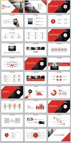 This is a smart and professional template that gives off a strong corporate feel. The clean white background is ideal for decks that are more information-heavy, while the red brings out the right emphasis. Powerpoint Design Templates, Ppt Design, Brochure Design, Graphic Design, Powerpoint Slide Designs, Print Templates, Brand Presentation, Corporate Presentation, Presentation Layout