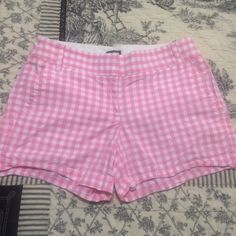 J. Crew Shorts Pink/White- Like new condition- 100% Cotton- Inseam measures 4 inches J. Crew Shorts