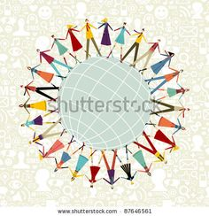 Social media network connection concept, with social icons pattern background by Cienpies Design, via ShutterStock