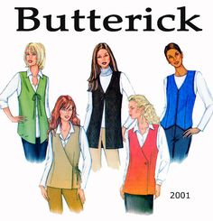 UNCUT Butterick 3200 Multi Style Womens Vest Sewing Pattern Size 14-16-18. Five Style Versions. Easy To Sew. Many Fabric Options Bust 34-38 https://www.etsy.com/ca/shop/FindCraftyPatterns?ref=teams_post