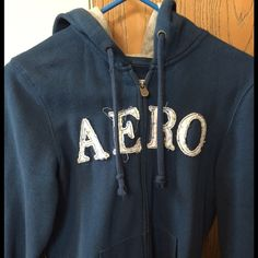 Aeropostale Zip up Hoodie Zip Hoodie with little hearts on the lettering! It's a medium and very true to size. It zips up in the front and has a hood. Nice with jeans or cute with shorts as well. I don't trade or use PayPal. If you would like to make an offer, please use the OFFER BUTTON. Happy poshing Aeropostale Jackets & Coats