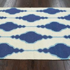 nuLOOM Handmade Flatweave Wool Trellis Blue Rug (5' x 8') - Overstock Shopping - Great Deals on Nuloom 5x8 - 6x9 Rugs