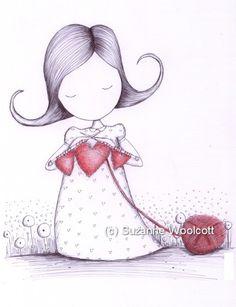 Suzanne Woolcott(gorjuss)..Knitting love..