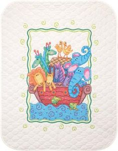Stamped Cross Stitch Kits Quilt Kits Noah S Ark Baby Quilt Stamped