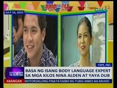 Saksi is GMA Network's late-night newscast hosted by Arnold Clavio and Pia Arcangel. Gma Network, Maine Mendoza, Alden Richards, Body Language