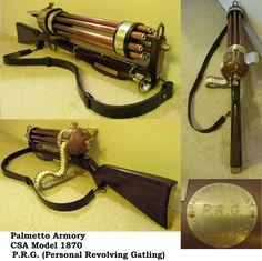 Steampunk Gatling Gun by Challenger70TA on DeviantArt