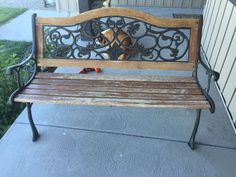 How to Restore an Old Park Bench - I've had this park bench for awhile, sitting on my front porch.  It stays out of the sun and elements mostly, but it does get…