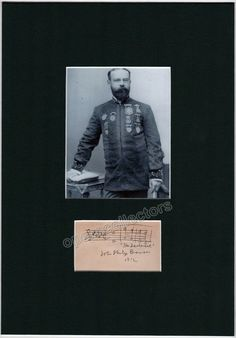 Sousa, John Philip - Autograph Music Quote Signed and Photo