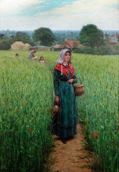 Dinner Time - Edmund Blair Leighton  1916
