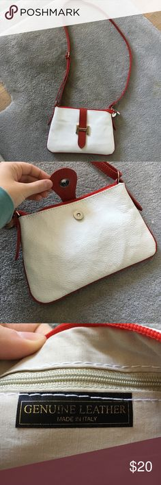 Italian leather cross body purse Real leather, bought in Italy! Only used once so it's in pristine condition! The cross body strap is adjustable for all desired lengths :) Bags Crossbody Bags