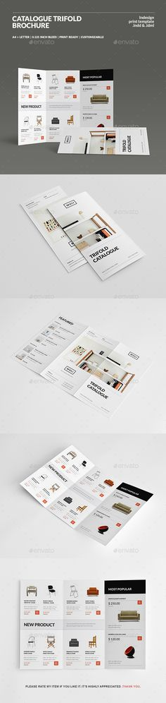 Catalogue Trifold Brochure — InDesign INDD #simple #modern catalogue • Download ➝ https://graphicriver.net/item/catalogue-trifold-brochure/19866866?ref=pxcr