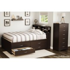 Found it at Wayfair - Step One Full Platform Customizable Bedroom Set