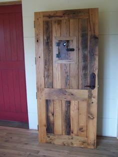 Stunning furniture crafted from old barn wood. Barn Wood Crafts, Barn Wood Projects, Old Barn Wood, Pallet Projects, Rustic Wood Furniture, Country Furniture, Barn Style Doors, Barn Doors, Entrance Doors