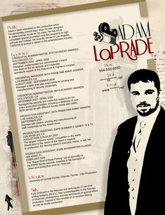 images about film resume samples on pinterest   free resume    resume   film industry