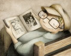 by Valeria Docampo I Love Books, Good Books, Books To Read, Reading Art, Kids Reading, Reading Time, Book Images, Illustrations, Cute Illustration