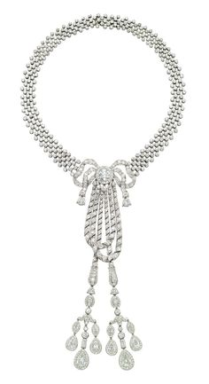 Lily Safra Jewelry Auction | CARTIER Belle Epoque Diamond Necklace, 1911 LILY SAFRA